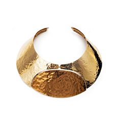 Lanvin: Oracle hammered gold brass necklace, €845.