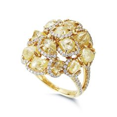 A stunning Spring cocktail ring with a total rough carat weight of 8.29. #luxury #unique #jewelry #spring