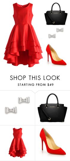 """Outfit Idea by Polyvore Remix"" by polyvore-remix ❤ liked on Polyvore featuring Marc by Marc Jacobs, MICHAEL Michael Kors, Chicwish and Christian Louboutin"