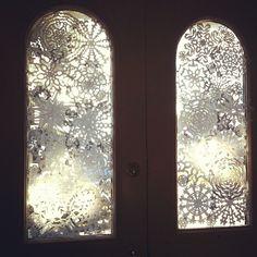 snowflake front door #yule by On Bradstreet