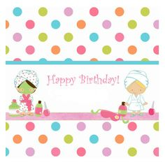 * Spa Day Party, Spa Birthday Parties, Pamper Party, Party Time, Girl Birthday, Birthday Cards, Happy Birthday, Spa Day For Kids, Zumba Party