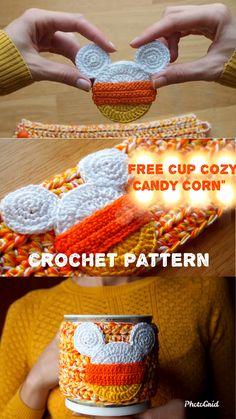 Crochet Coffee Cozy, Crochet Cozy, Crochet Gifts, Cozy Coffee, Tea Cozy, Crochet Dolls, Crochet Christmas Decorations, Holiday Crochet, Thanksgiving Crochet