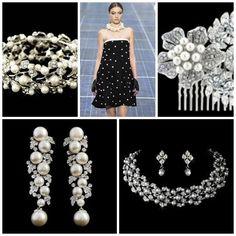 Pearl Accessories - www.vintagebridaljewellery.co.uk Wedding Accessories, Strapless Dress, Pearls, Vintage, Dresses, Fashion, Strapless Gown, Vestidos, Moda