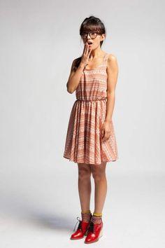 aztec print tank dress.