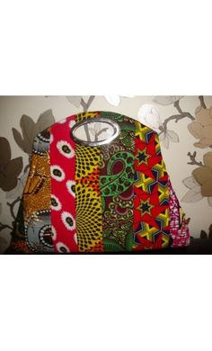 Large multi African print purse bag