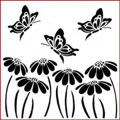 crafting stencils | NEW* Imaginations Crafts Stencil Templates - Butterfly & Daisy's