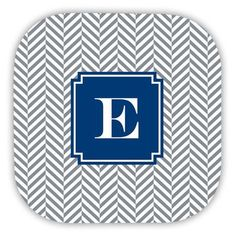 Boatman Geller Herringbone Single Initial Cork Coaster Letter: X