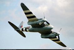 De Havilland Mosquito in D-Day invasion stripes Ww2 Aircraft, Military Aircraft, Fighting Plane, British Aerospace, De Havilland Mosquito, Ww2 Planes, Vintage Airplanes, Aircraft Pictures, Royal Air Force