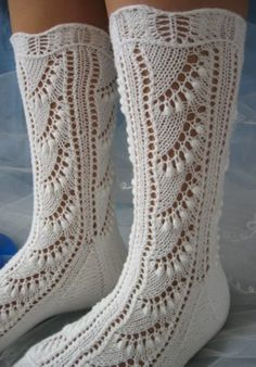 Ravelry: Lily of the Valley Socks pattern by Susan Lawrence Crochet Socks, Knitting Socks, Hand Knitting, Knit Crochet, Knitting Patterns, Crochet Patterns, Little Cotton Rabbits, Wool Socks, Knit Picks