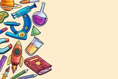 Download Hand-drawn Science Education Background Theme for free