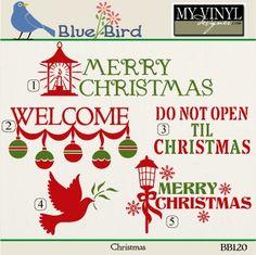 DIGITAL DOWNLOAD ... Christmas Vectors in AI, EPS, GSD, & SVG formats @ My Vinyl Designer #myvinyldesigner #bluebird