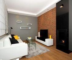 salon + hol sufit podwieszany jedną stroną