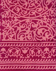 Printed by hand in Rajasthan, India by traditional craftsmen using hand-carved teak blocks. Anokhi and rasany fabric Stencil Patterns, Painting Patterns, Textile Patterns, Textile Design, Textile Art, Color Patterns, Print Patterns, Scarf Patterns, Indian Patterns