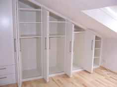 Ideas For Bedroom Storage Ikea Attic Closet, Attic Playroom, Attic Rooms, Attic Spaces, Attic Wardrobe, Attic Office, Sliding Wardrobe, Attic Renovation, Attic Remodel