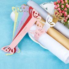 [US$ 6.89] personalisé Papillon Papier Nacre Ronds de serviette (Lot de 12) (118030355)