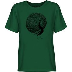 Mintage Fanned Peacock Youth Fine Jersey T-Shirt