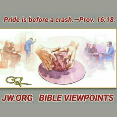 Wednesday, November 23 Pride is before a crash.—Prov. 16:18.