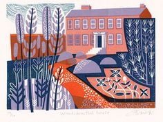 'Wordsworth's House' by Clare Curtis (linocut)