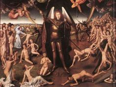 Detail of triptych of The Last Judgment by Hans Memling, German, 1430-1494.