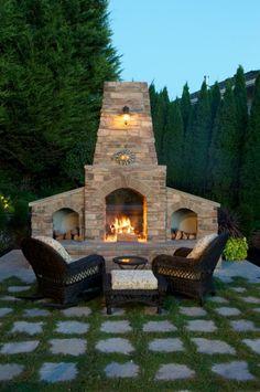 how to build an outdoor fireplace | backyard, patios and outdoor, Terrassen ideen