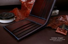 men's wallet leather handicrafts