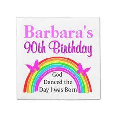 CHRISTIAN 90TH BIRTHDAY PERSONALIZED NAPKINS