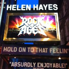 Awesome show on Broadway. Had the best time!  For once they played music off MY iPod.