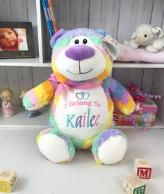 Personalized Baby Gifts, Bears, Names, Children, Kids, Bear, Child, Babys, Babies