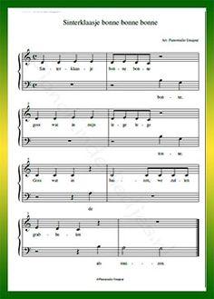 Sinterklaasje bonne bonne bonne - Gratis bladmuziek van kinderliedjes in eenvoudige zetting voor piano. Piano leren spelen met bekende liedjes.