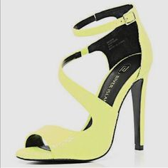 5581473cc3 River Island Shoes | River Island Neon Sandals | Color: Yellow | Size: 7.5