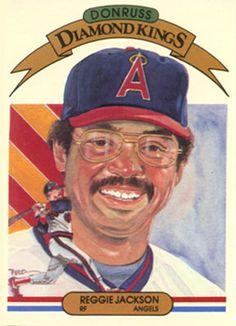 """Reggie Jackson"" for Donruss Diamond Kings baseball card series in 1983 by Dick Perez"