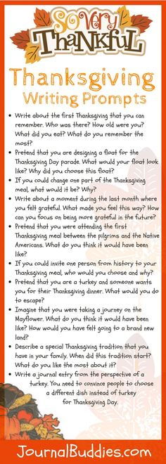 Thanksgiving Activities for Kids and 10 Bonus Writing Prompts