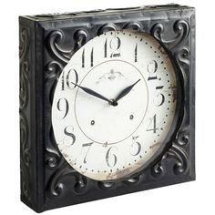 Embossed Square Clock