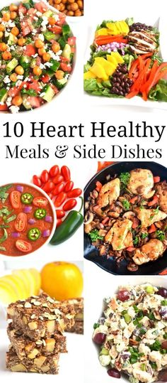 10 Heart Healthy Meals and Side Dishes. 10 Heart Healthy Meals and Side Dishes. 10 Heart Healthy Meals and Side Dishes for a healthy heart! Heart Healthy Diet, Healthy Meals For Two, Heart Healthy Recipes, Healthy Side Dishes, Healthy Nutrition, Healthy Dinner Recipes, Healthy Eating, Heart Healthy Breakfast, Heart Diet