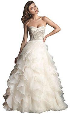 ZHUOLAN White Strapless Ruffled Skirt Wedding Dress M ZHUOLAN http://www.amazon.com/dp/B00HUOGPIU/ref=cm_sw_r_pi_dp_t6R2tb111YB2Z460