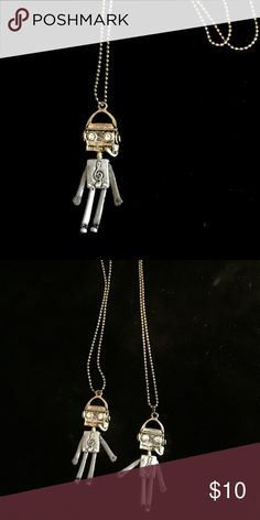 """Music Beat Box DJ pendant Moveable limbs, robot DJ pendant approx 3 inches, chain approx 24"""" Jewelry Necklaces"""