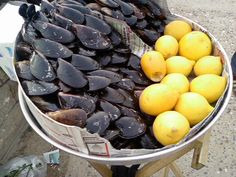 Midye (mussels): Turkish street food. I dare you to stop at 1!