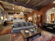 The industrial elements give the place a lot of personality and also create a low maintenance place, while the place over all still feels cozy and warm.