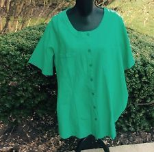 NWT PLUS SIZE TOPS FOR WOMEN  2X COTTON  GREEN