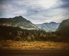 This Glacier Pass Mountain Photograph was taken near our campsite in Glacier National Park in the fall - by Lost Kat Photo lostkat.com