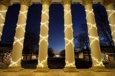 UVA Lawn Lit Up. January 2, 2010. www.jacklooneyphotography.wordpress.com