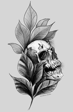 Tattoo Sketches, Tattoo Drawings, Art Sketches, Dark Tattoo, I Tattoo, Skull Tattoos, Black Tattoos, Letras Tattoo, Kitsune Mask