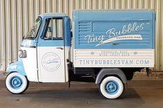 Piaggio Ape Conversions Piaggio Ape by Tukxi Food Cart Design, Food Truck Design, Scooters, Mobile Coffee Cart, Prosecco Van, Vespa Ape, Mobile Cafe, Flower Truck, Piaggio Vespa