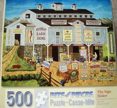 THE SIGN MAKER~Bits and Pieces 500 Piece Jigsaw Puzzle~Art Poulin~COMPLETE in Toys & Hobbies, Puzzles, Contemporary Puzzles | eBay