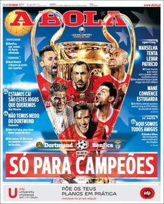 Portada del diario deportivo A Bola del 08 de marzo de 2017