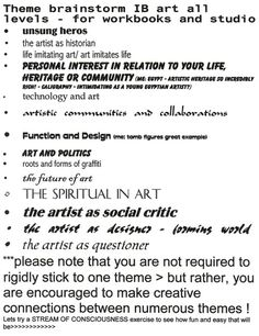 student support booklet natural forms artist research page  ib art workbook examples page 3 the ib art research workbook student samples