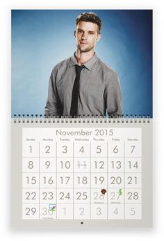 JESSE SPENCER (from Chicago Fire) 2015 Wall Calendar $5