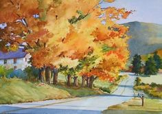 Magical Landscaping, a superb take on exciting landscaping tips, check out the post number 7807394918 now. Watercolor Architecture, Watercolor Landscape Paintings, Watercolor Trees, Easy Watercolor, Watercolor Sketch, Watercolor Illustration, Watercolour Painting, Watercolors, Autumn Painting