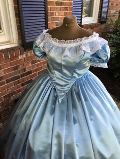 Baby Blue Satin Civil War Ball Gown in 36 inch waist**http://www.cumberlandriversutlery.com/baby-blue-satin-civil-war-ball-gown36.html