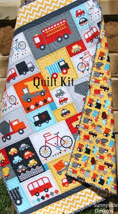 Toddler Quilt Kit Ann Kelle Robert Kaufman by SunnysideFabrics